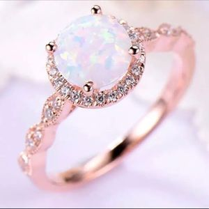 Rose Gold and Opal Ring Size 6